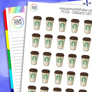 Starbucks Cup Planner Stickers