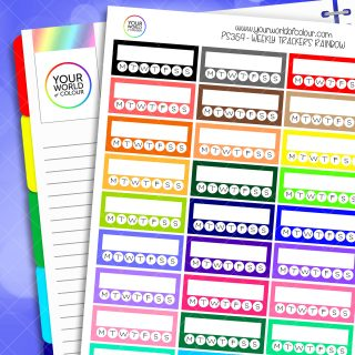 Weekly Tracker Planner Stickers
