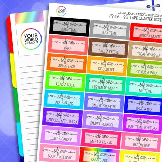 Self Care Planner Stickers 1.0