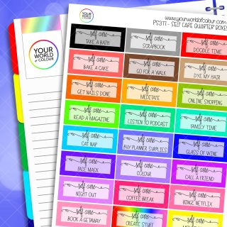 Self Care Planner Stickers