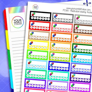 Weekly Medication Tracker Planner Stickers