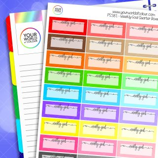 Weekly Goal Planner Stickers