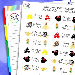 Vacation Countdown Planner Stickers