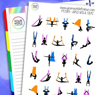 Aero Yoga Silks Planner Stickers