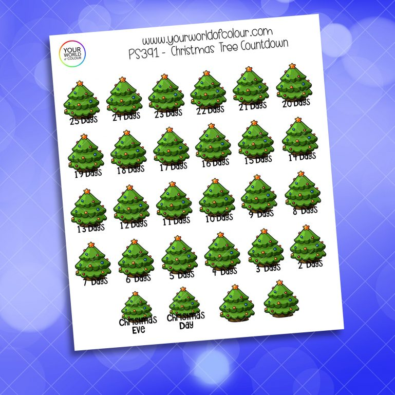 Christmas Tree Countdown Stickers