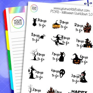 Halloween Countdown 1.0 Planner Stickers