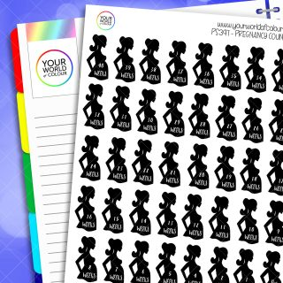 Pregnancy Countdown Planner Stickers