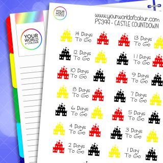 Castle Countdown Planner Stickers