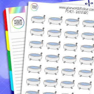 Bath Tub Planner Stickers