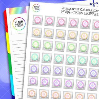 Condom Planner Stickers