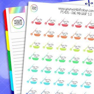 Die My Hair Planner Stickers 1.0