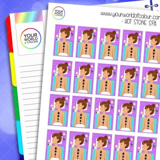 Hot Stone Spa Planner Stickers