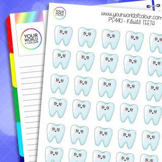 Teeth Planner Stickers