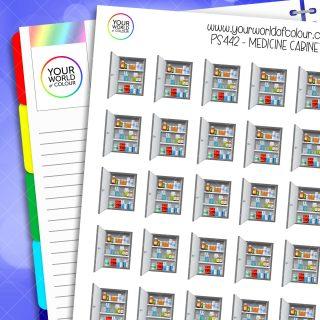 Medicine Cabinet Planner Stickers