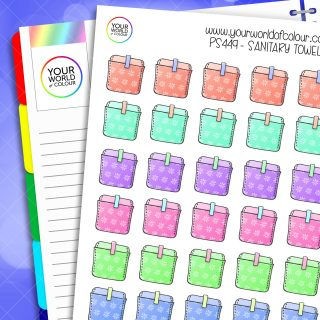 Sanitary Towels Planner Stickers