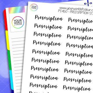 Prescription Script Stickers