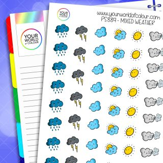 Mixed Weather Planner Stickers