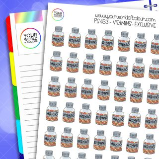 Vitamins Planner Stickers
