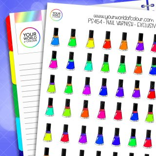 Nail Varnish Planner Stickers