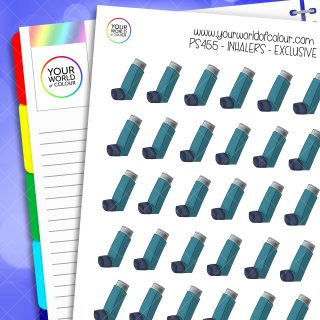 Inhaler Planner Stickers