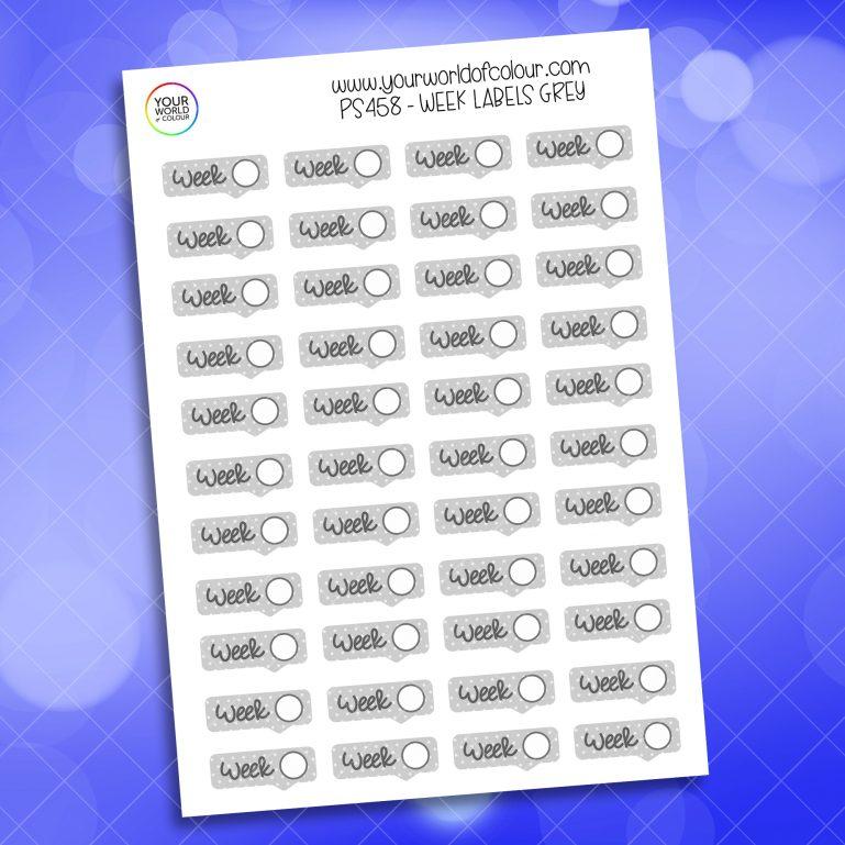 Week Label Planner Sticker