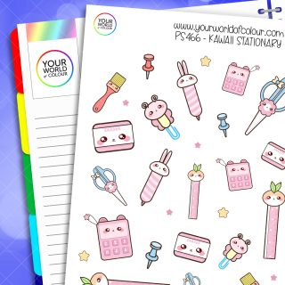 Kawaii Stationary Planner Stickers