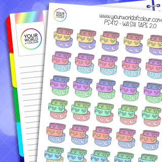 Washi Tape Planner Stickers 2.0