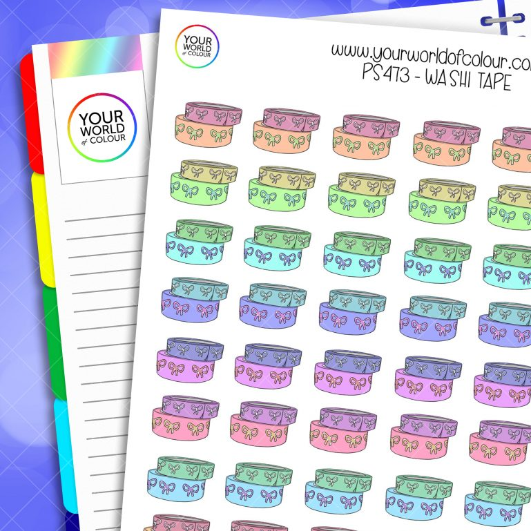 Washi Tape Planner Stickers