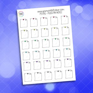 Push Pin Note Planner Sticker