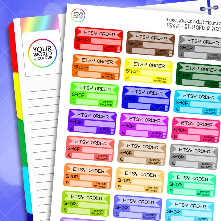 Etsy Order Planner Stickers