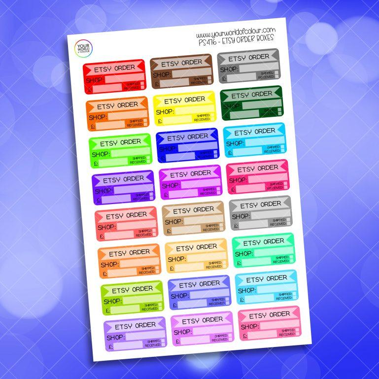 Etsy Order Planner Sticker
