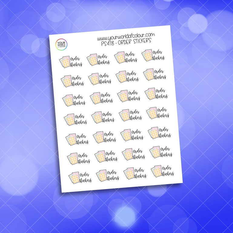 Order Stickers Planner Sticker