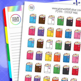 Sticker Mail Planner Stickers