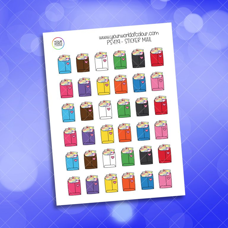 Sticker Mail Planner Sticker