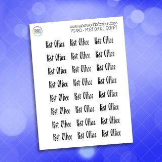 Post Office Script Planner Sticker