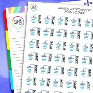Shower Planner Stickers