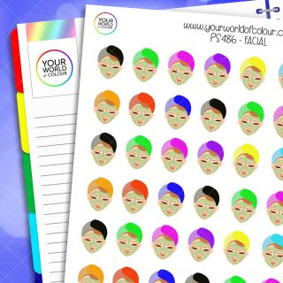 Facial Planner Stickers