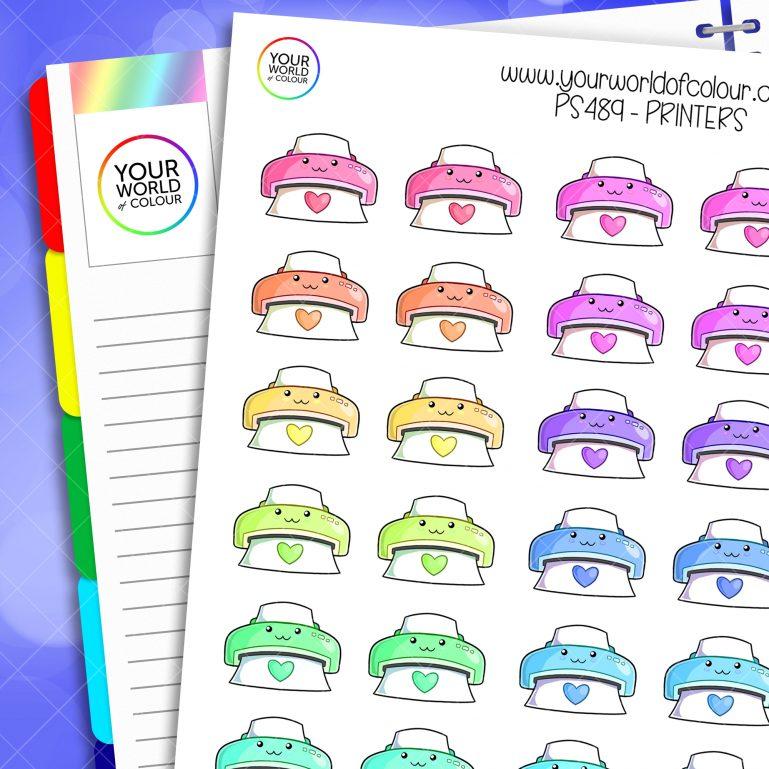 Printer Planner Stickers