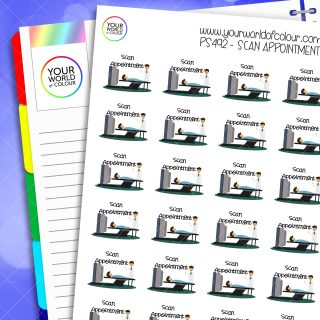 Scan Appointment Planner Stickers