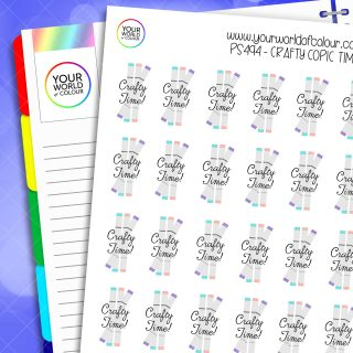 Crafty Copic Time Planner Stickers