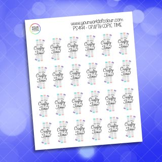 Crafty Copic Time Planner Sticker