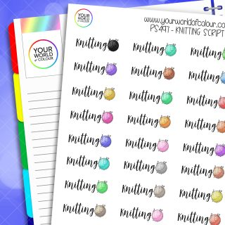 Knitting Planner Stickers