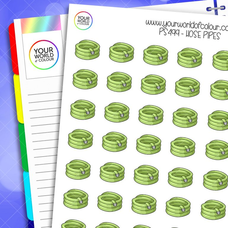 Hose Pipes Planner Stickers