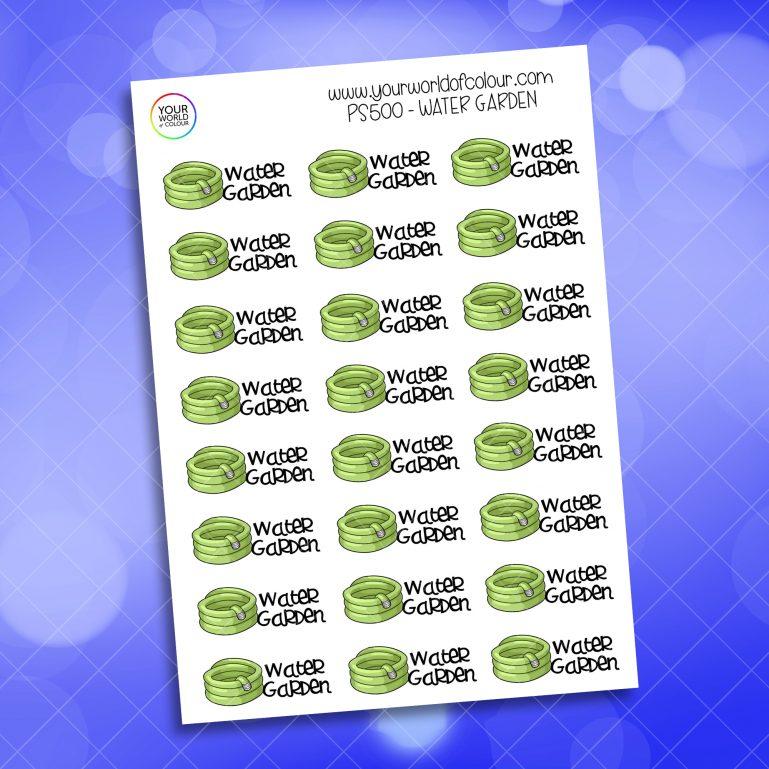 Water Garden Planner Sticker