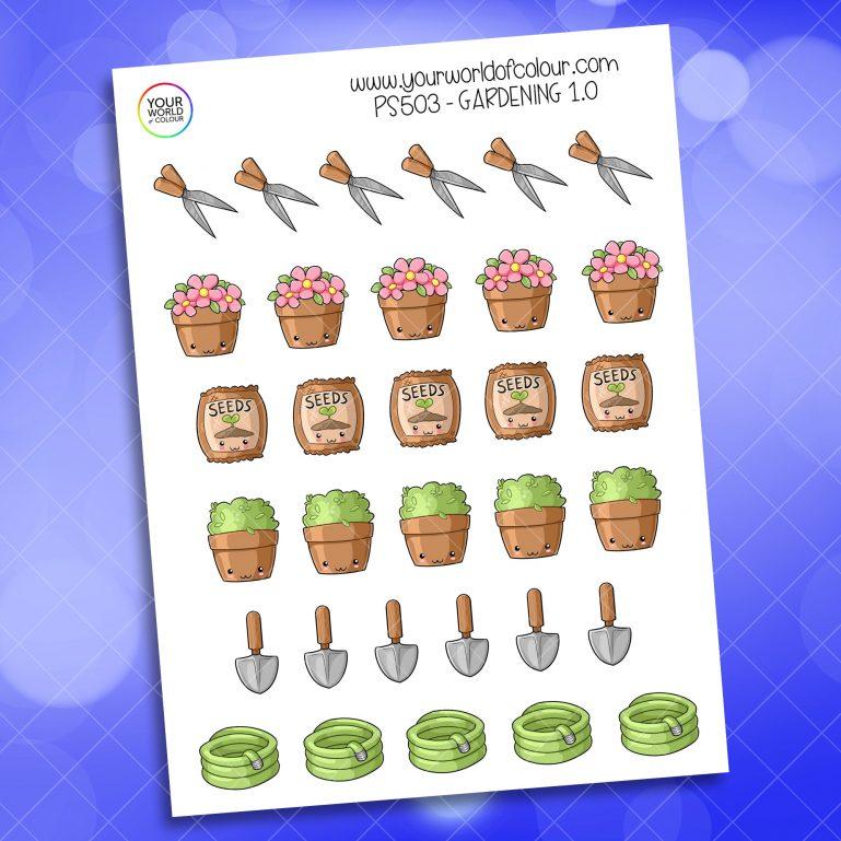 Gardening Planner Sticker
