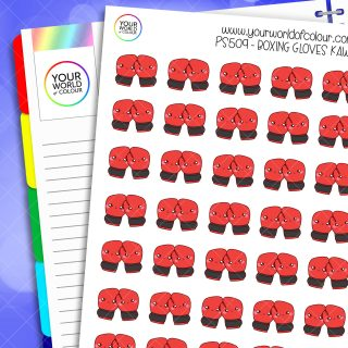 Boxing Gloves Planner Stickers