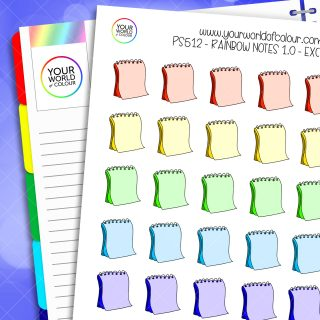 Rainbow Notes Planner Stickers 1.0