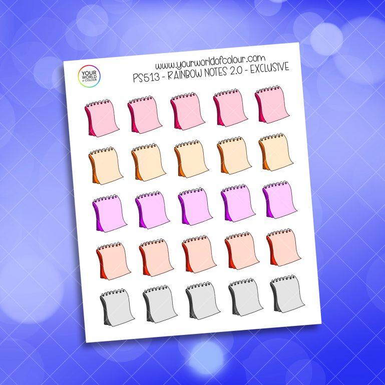 Rainbow Notes Planner Sticker