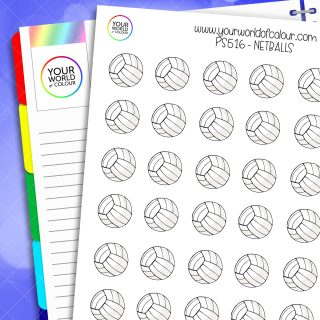 Netball Planner Stickers