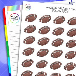 Rugby Planner Stickers